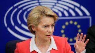 A nova presidente da Comissão Europeia, Ursula von der Leyen, promete uma União Europeia mais forte.