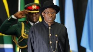 Shugaban Najeriya Goodluck Jonathan a taron Afrika kan sha'anin tsaro a Kenya.