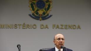O ministro da Fazenda do Brasil, Henrique Meirelles