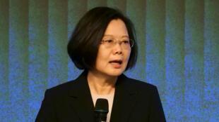 蔡英文在台北举行的年度商会上 2019年11月19日