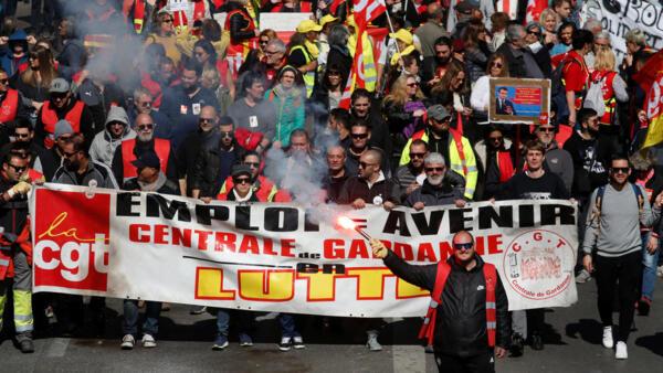 Акция протеста в Марселе, 19 марта 2019