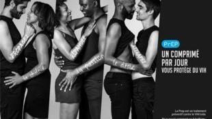 Campanha da associação francesa Aides para o uso do medicamento que previne a transmissão do HIV