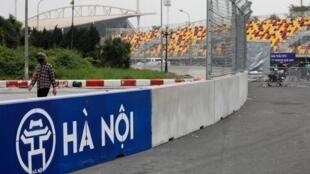 Một góc đường đua xe hơi Công thức 1 tại Hà Nội. Ảnh chụp ngày 12/03/2020
