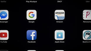 Ảnh minh họa : Logo các tập đoàn trong GAFA ( Google, Amazon, Facebook, Apple ).