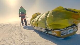 Colin O'Brady, 33, took 54 days to cross Antarctica from coast to coast.
