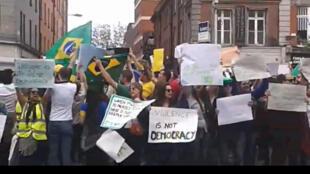 Captura vídeo da Manifestação em Dublin em apoio aos protestos no Brasil