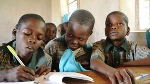 Children born to Boko Haram and those orphaned by the militant group learn together in the Future Prowess school in Maiduguri, Nigeria, Jan 23, 2017.