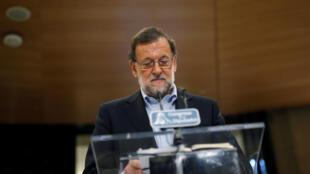 O primeiro-ministro Mariano Rajoy