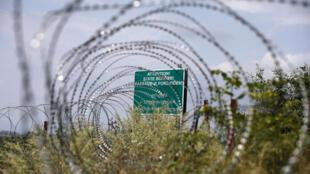 (архив) На границе Грузии и Южной Осетии, где силами российских военных в 2015 году была проведена демаркационная линия