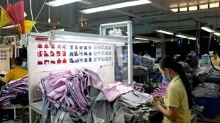Một xưởng may của công ty Thành Công, Sài Gòn. Ảnh chụp ngày 09/07/2019.