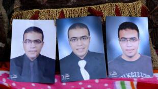 Fotos fornecidas pelo pai do suposto agressor do museu do Louvre, Abdullah Reda El Hamahmy.