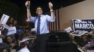El candidato republicano Marco Rubio en Miami, Florida, este 14 de marzo de 2016.