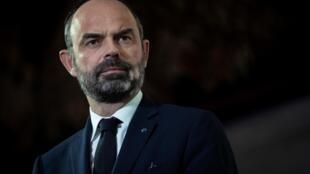 El primer ministro francés Édouard Philippe, el 11 de diciembre de 2019 en Francia.