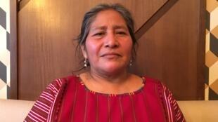 Juana Sales Morales, guatémaltèque Maya Mam, se bat pour les droits des femmes autochtones et le respect des accords de paix de 1996.