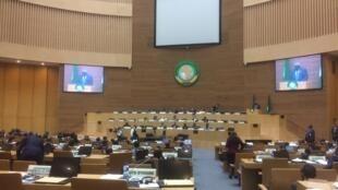 Wakilan kasashen Tarayyar Afrika yayin taron AU da ke gudana a Addis Abba na Habasha.
