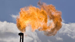 Forage d'exploitation du gaz de schiste, au Texas, le 22 juin 2010.