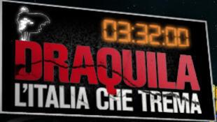 Banner for a tour of Sabina Guzzanti's film Draquila