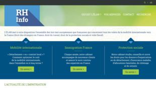 Page d'accueil de l'Elan, site de conseil pour l'impatriation/expatriation en France.