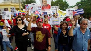 Một cuộc tập hợp bày tỏ sự ủng hộ Venezuela tại thủ đô Cuba, La Habana ngày 25/08/2017.