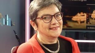 Marie Christine Vila en los estudios de RFI