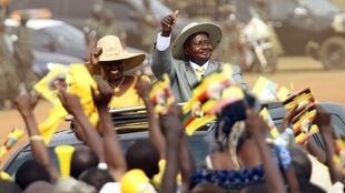 Uganda's First Lady Janet Museveni and her husband in February 2011