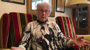 Colette Marin-Catherine was a resistant at the age of 14 and started as a nurse at 16 after the Liberation in Normandy in 1944.