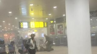 Brussels Zaventem airport after the blasts