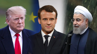Hassan Rouhani, Emmanuel Macron, Donald Trump