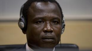 Dominic Ongwen, l'un des principaux chefs de la rébellion ougandaise de la LRA, lors de sa première comparution devant la Cour pénale intenationale (CPI), lundi 26 janvier 2015.