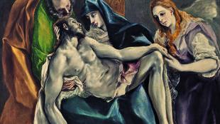 « La Pieta » de Domínikos Theotokópoulos dit El Greco, 1580-1590 (huile sur toile 121 x 155,8 x 2,5 cm).
