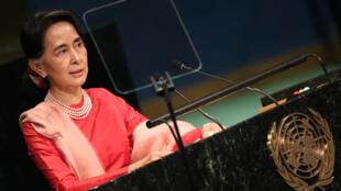 Ngoại trưởng Miến Điện Aung San Suu Kyi tại Đại Hội Đồng Liên Hiệp Quốc lần thứ 71 ở Manhattan, New York, ngày 21/09/2016.