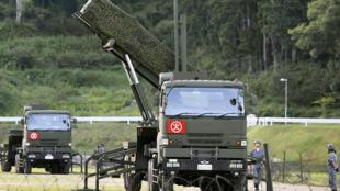 Hệ thống tên lửa Patriot Advanced Capability-3 (PAC-3) của Nhật Bản chuyển đến Kochi. Ảnh ngày 12/08/2017.