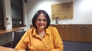 A ministra Damares Alves concedeu uma entrevista à RFI nesta quarta-feria (26), em Genebra.