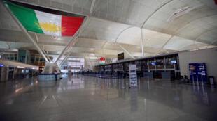 O saguão do aeroporto de Erbil ficou vazio nesta sexta-feira, 29 de setembro de 2017.