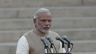 O primeiro-ministro hindu, Narendra Modi, prometeu combater por todos os meios as violências sexuais contra as mulheres.dentiel à New Delhi, le 26 mai 2014.