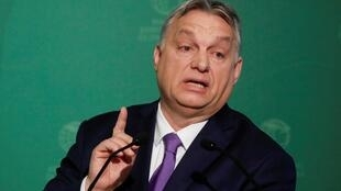 El primer ministro de Hungría Viktor Orban en Budapest el 10 de marzo de 2020.