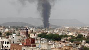 Sanaa, au Yémen, le 9 août 2016. Les bombardements de la coalition menée par l'Arabie saoudite ont repris.