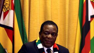 Le président du Zimbabwe, Emmerson Mnangagwa.