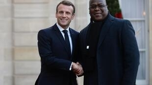 Emmanuel Macron et Félix Tshisekedi à l'Elysée, le 12 novembre 2019.