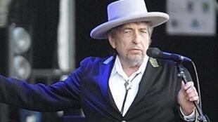 O cantor Bob Dylan