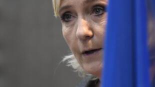 Marine Le Pen, Candidata da Frente Nacional às eleições presidenciais em França.