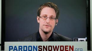 Эдвард Сноуден во время видео-пресс-конференции, 14 сентября 2016.