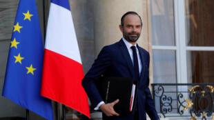 O primeiro-ministro francês, Edouard Phillipe, em foto de arquivo.