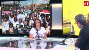 """En Escala en París, Leticia Oliveira, representante del MAB explica lo que ha venido después de """"Brumadinho"""""""