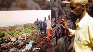 A genocide survivor and guide at Rwanda's genocide memorial