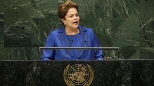 A presidente Dilma Rousseff discursou nesta quarta-feira, 24, na 69ª Assembleia Geral da ONU.