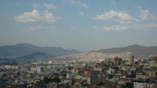 Vue de Bejaïa depuis la casbah, en Algérie.