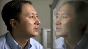 宣布成功基因編輯嬰兒技術的科學家賀建奎