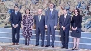 El Rey de España, Felipe VI, recibió en audiencia al equipo directivo de la Organización de Estados Iberoamericanos para la Educación, la Ciencia y la Cultura OEI). Madrid, 11 de enero de 2019.
