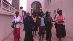 Militantes du réseau namibien pour les droits des femmes.